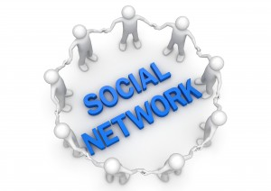 Social network people circle - Concepts collection